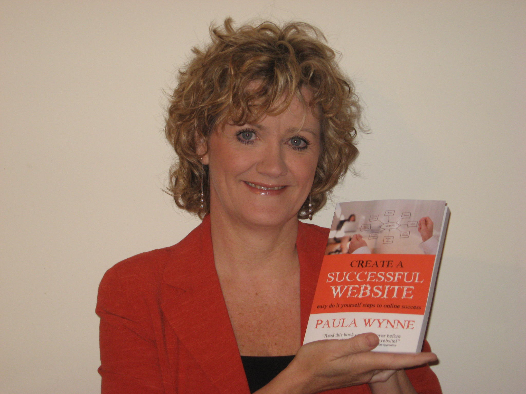 Paula with her first book