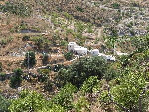 house near Malaga on dry river bed