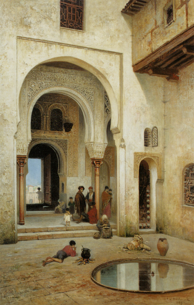 A_Courtyard_In_Alhambra in 1492 Featured in The Luna Legacy