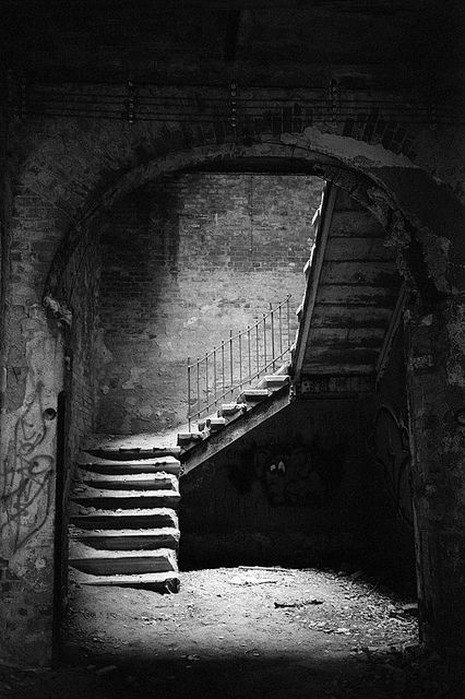 Abadoned Hospital Stairway