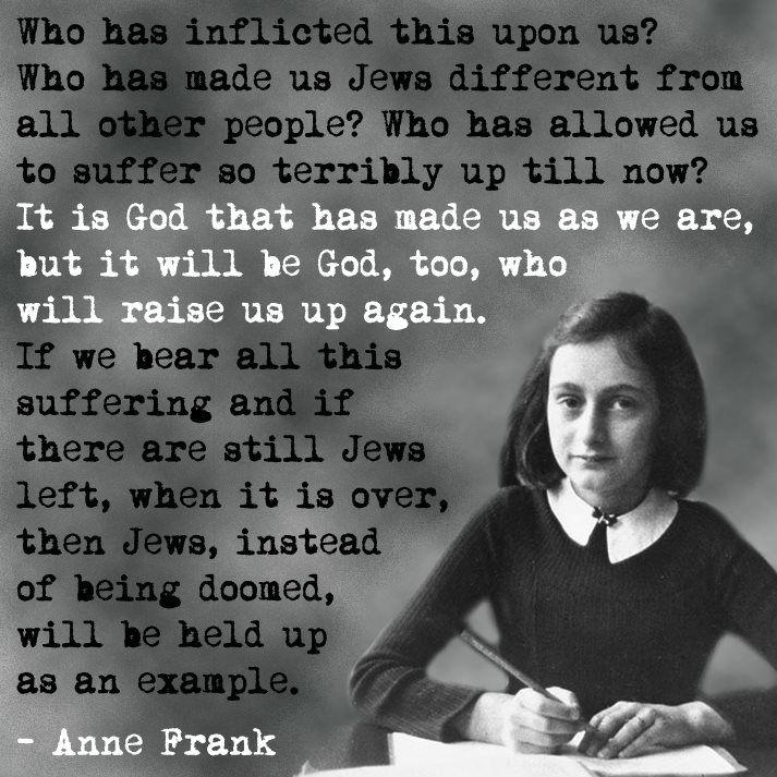 Anne Frank World War II Quote