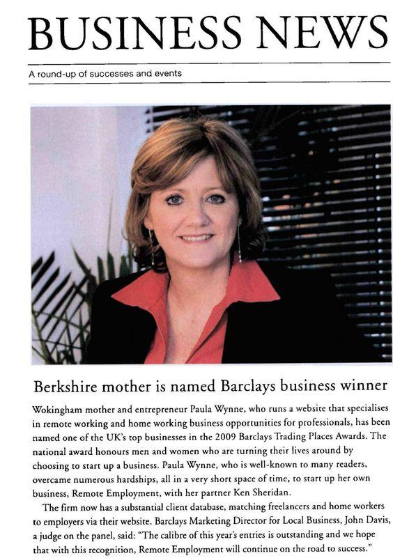 Buckinghamshire Life reports on Paula's business award