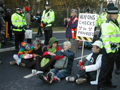 Greenpeace Protest Aldermaston