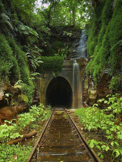 Abandoned Helensburgh Railroad Tunnel Australia