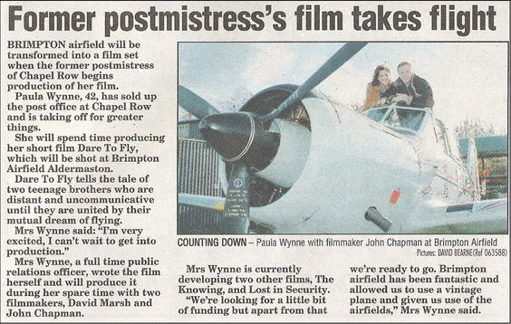 Reading Chronicle Article on Dare to Fly