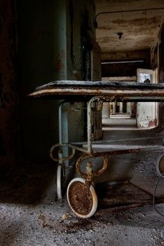 Abadoned Rusting Hospital Wheelchair