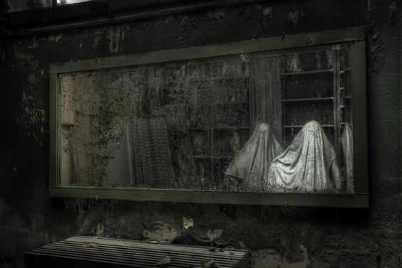 Spooky Mirror In Abadoned Mansion