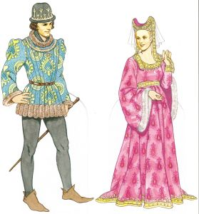 Medieval Clothing Featured In The Grotto's Secret