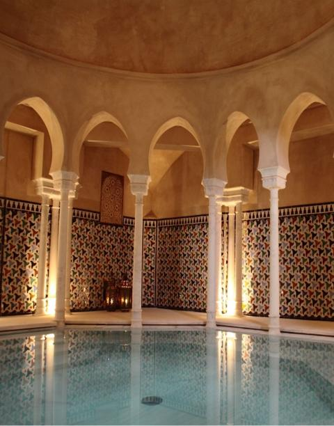Alhambra Palace Royal Bathhouse Featured in The Luna Legacy