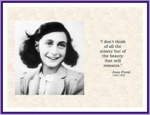 Anne Frank Inspiration