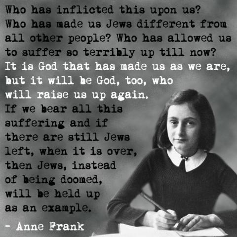 Anne Frank World War II Quote