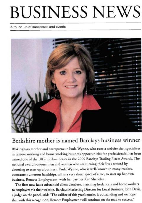 Buckinghamshire Life reports on Paula's business award