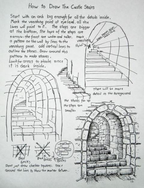 Castle Stone Stairway