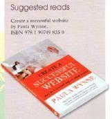 Paula first book Create A Successful Website featured in Knitting Magazine