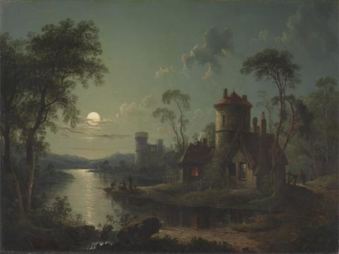 Moonlight on Lake